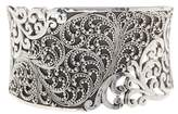 Lois Hill Sterling Silver Exclusive Overlay Tapered Cuff Bracelet