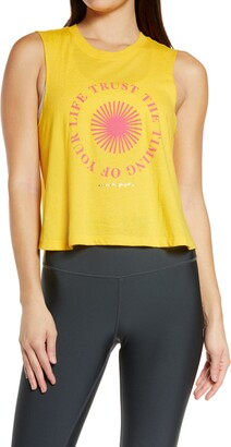 Spiritual Gangster Trust the Timing Graphic Crop Tank