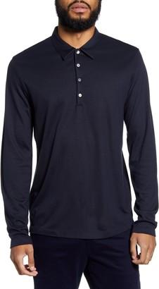 Theory Sharp Slim Fit Long Sleeve Polo
