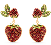 Dolce & Gabbana Strawberry drop clip-on earrings