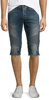 True Religion Geno Slim-Fit Cutoff Moto Shorts, Concrete Lake