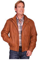 Scully Men's Featherlite Jacket w/ Double Collar 909 Tall - Cognac Featherlite Western Clothing
