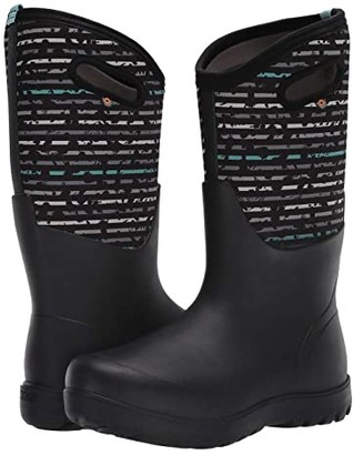 Bogs Neo-Classic Tall Spot Stripes (Black Multi) Women's Shoes