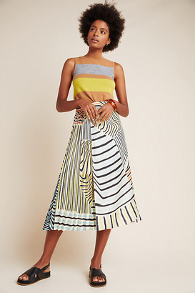 Ludovica Pleated Midi Skirt By Geisha Designs in Assorted Size XS