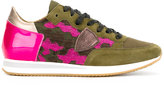 Philippe Model camouflage detail sneaker - women - Cotton/Leather/Nylon/rubber - 37