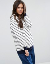 Asos Sweatshirt in Stripe Print