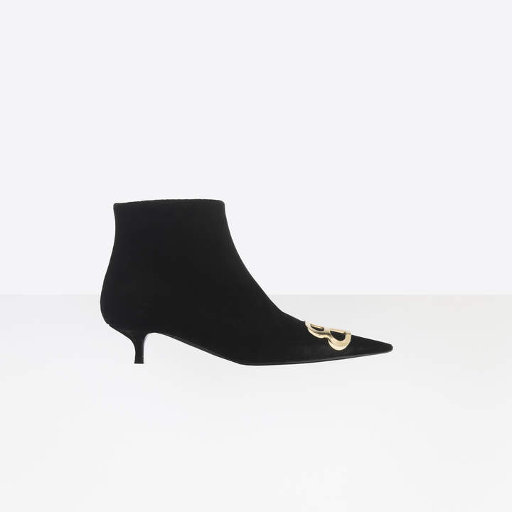 Balenciaga Extreme pointed toe velvet booties