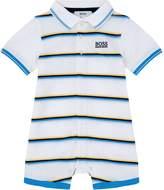 HUGO BOSS Striped Polo Playsuit