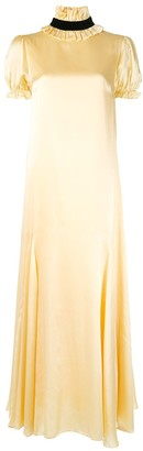 macgraw Elliptical silk maxi dress