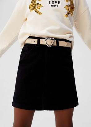 MANGO Heart buckle belt