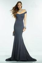 Alyce Paris Claudine - 2553 Long Dress In Charcoal Multi
