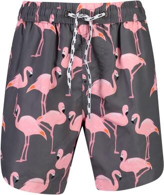 Snapper Rock Flamingo Social Swim Trunks