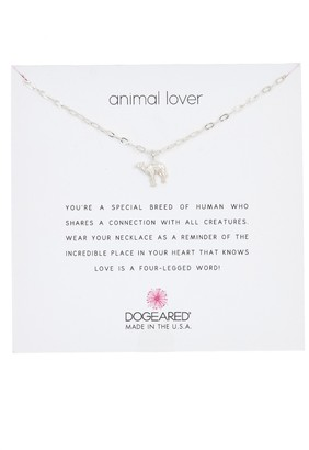 Dogeared Sterling Silver Animal Lover Camel Pendant Necklace