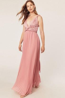 Oasis Rock N Roll Bride Wear It Your Way Pale Pink Maxi Dress