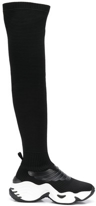 Emporio Armani Sock-Style High Trainers