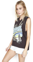 Lauren Moshi Kinzington Vintage Crop Muscle Tee in Onyx
