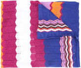 Missoni colour block knitted scarf