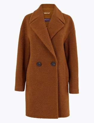 M&S CollectionMarks and Spencer Boucle Double Breasted Coat