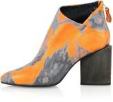 Kim Kwang Watercolour Effect Ankle Boot Orange