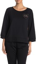 Betsey Johnson Raglan Sleeve Pajama Shirt