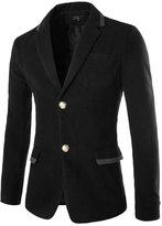 uxcell® Men Long Sleeves Two Button Closure Front Blazer M