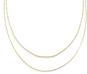 Adina's Jewels Adinas Jewels Double Chain Necklace, 16 and 18
