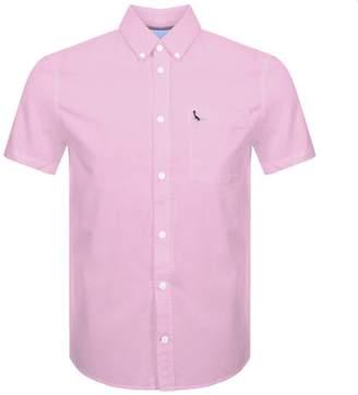 Jack Wills Stableton Short Sleeved Shirt Pink
