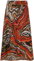 M Missoni printed high waisted skirt
