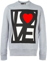 Love Moschino 'love' print sweatshirt