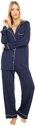 Barefoot Dreams Luxe Milk Jersey Pajama Set (Indigo) Women's Pajama Sets