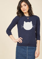 ModCloth Whimsical Knit Sweater in Cat in 1X