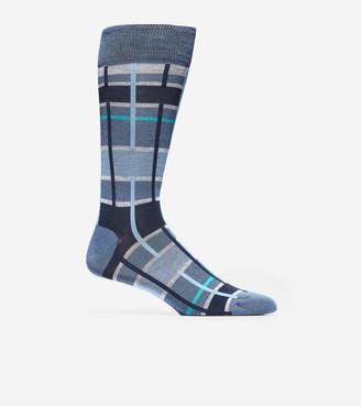 Cole Haan Broken Plaid Crew Socks