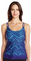 Christina Women's Crochet Passion D-Cup Flare Tankini with Underwire
