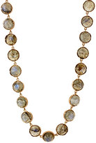 Irene Neuwirth Women's Gemstone Circular-Link Necklace-GOLD, GREEN, NO COLOR