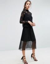 Boohoo Pleated Midi Skirt