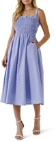 Thumbnail for your product : ENGLISH FACTORY Sleeveless Stripe Midi Dress