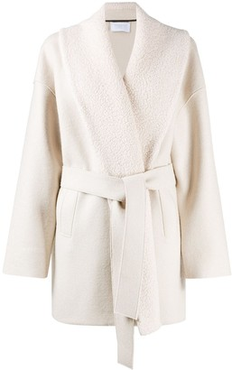 Harris Wharf London Belted Wool Wrap Coat