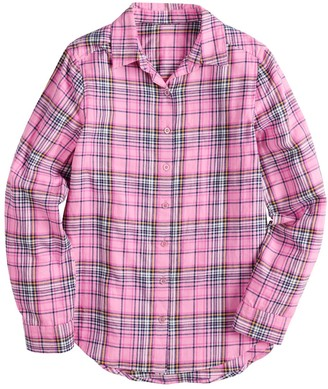 So Girls 4-20 & Plus Size Plaid Flannel Tunic Top