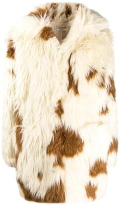 Zadig & Voltaire Faux Fur Long Sleeve Coat