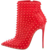Christian Louboutin Snakilta 120 Spiked Ankle Boots