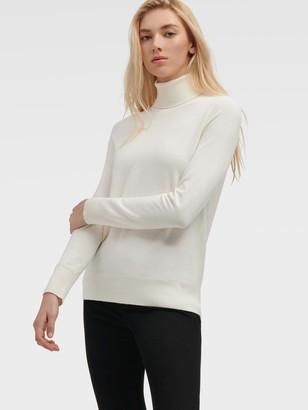 DKNY Women's Classic Turtleneck - Ivory - Size XL