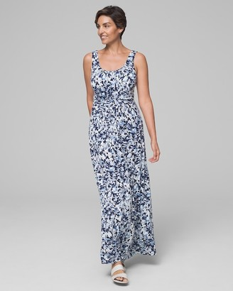 Soma Intimates Soft Jersey Wrapped Waist Maxi Dress