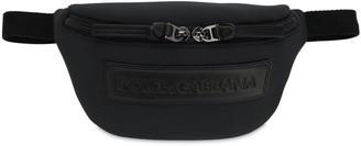 Dolce & Gabbana Logo Patch Neoprene Belt Bag