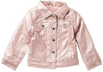 Urban Republic Metallic Faux Leather Trucker Jacket (Big Girls)