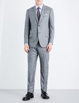 Richard James Prince of Wales check regular-fit wool suit