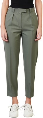 Maje Pleated Stretch Wool Trousers