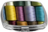Rikki Knight Compact Mirror, Vintage Sewing Thread, 3 Ounce