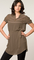 Twelfth St. By Cynthia Vincent Lotus Tie Waist Tunic
