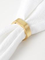 Be Home Gold Hexagon Napkin Ring