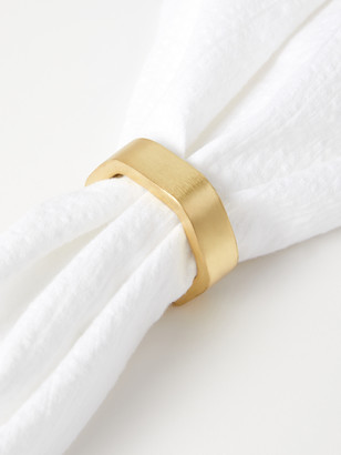 Gold Hexagon Napkin Ring